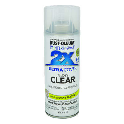 Rust-Oleum  Painter's Touch 2X Ultra Cover  Gloss  Clear  Spray Paint  12 oz.