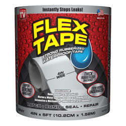 Flex Tape  As Seen On TV  4 in. W x 5 ft. L Gray  Waterproof Repair Tape