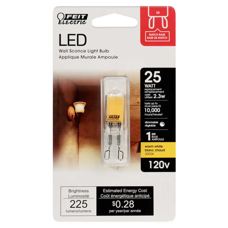 FEIT Electric  2 watts Wedge  LED Bulb  160 lumens Soft White  Decorative  20 Watt Equivalence