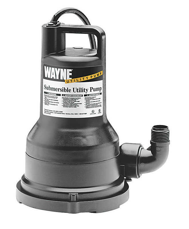 Wayne  Thermoplastic  Submersible Utility Pump  1/5 hp 2500 gph 115 volts
