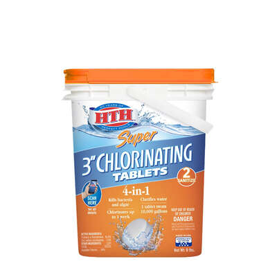 hth  Super  Tablet  Chlorinating Chemicals  8 lb.