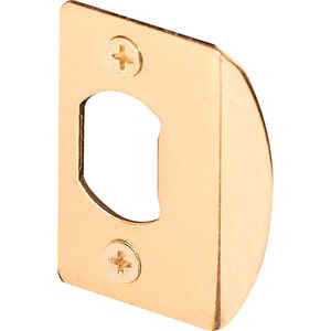 Prime-Line  2.25 in. H x 1.43 in. L Brass-Plated  Steel  Latch Strike Plate
