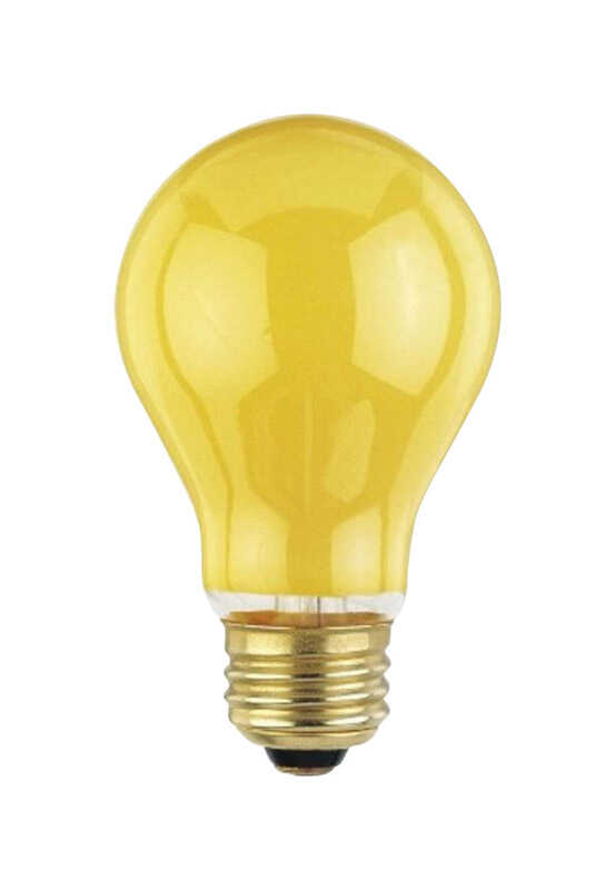 Westinghouse  Bug Light  60 watts A19  Incandescent Bulb  Yellow  2 pk A-Line