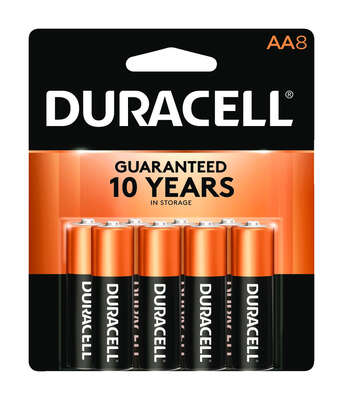 Duracell Coppertop AA Alkaline Batteries 8 pk Carded