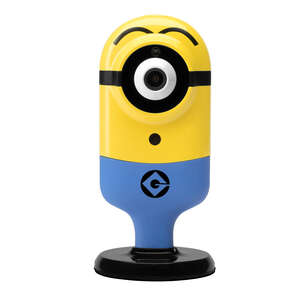 Minion Flexi Cam  Stuart Surprised  Plug-in  Indoor  Security Camera  Yellow