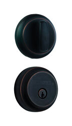Brinks  Push Pull Rotate  Oil Rubbed Bronze  Steel  Deadbolt