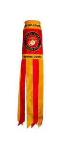 In the Breeze  US Marine Corps  Windsock  40 in. H x 6 in. W