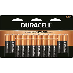 Duracell  Coppertop  AA  Alkaline  Batteries  20 pk Carded