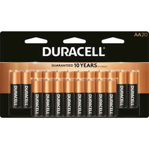 Duracell  Coppertop  AA  Alkaline  Batteries  1.5 volt 20 pk Carded