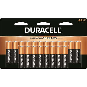 Duracell  Coppertop  AA  Alkaline  Batteries  1.5 volts 20 pk Carded