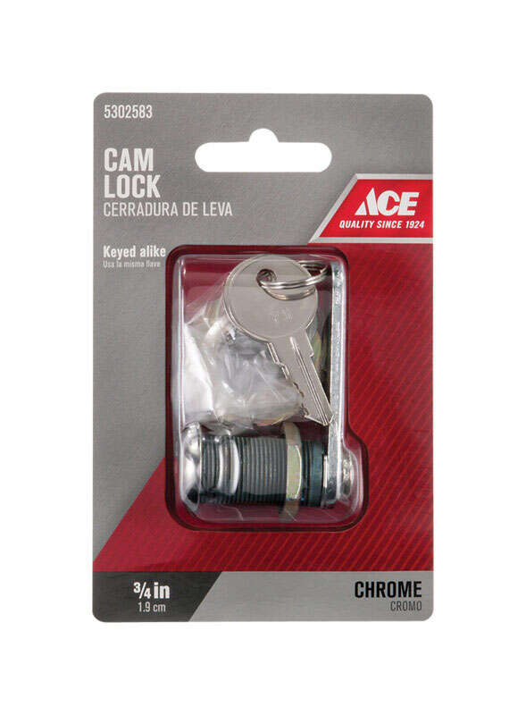 Ace  Chrome  Brass  Cam Lock
