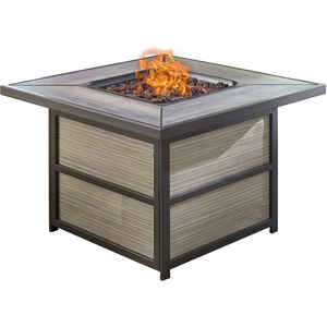 Hanover  Coffee Table  Propane  Fire Pit  28.8 in. H x 37.4 in. W x 37.4 in. D Steel