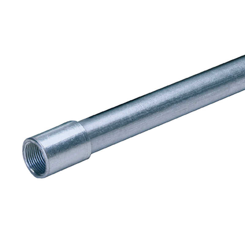Allied Moulded  1/2 in. Dia. x 10 ft. L Galvanized Steel  Electrical Conduit  For Rigid