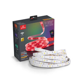 Globe Electric  Wi-Fi Smart Home  16.4 ft. L Multicolored  Plug-In  LED  Tape Light  1 pk