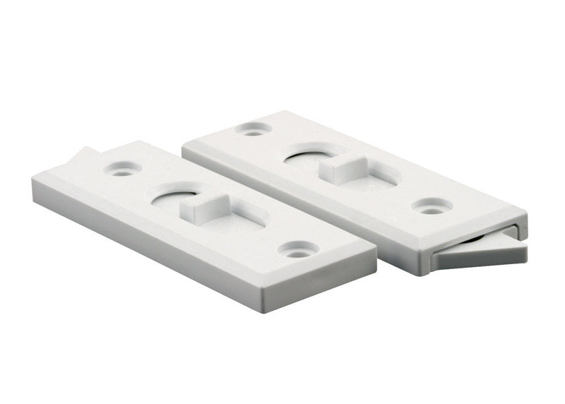 Prime-Line  White  Vinyl  Window Tilt Latch  2.9 in. W x 1.1 in. L For Vinyl Windows 2 pk