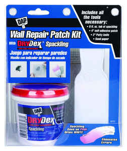 DAP DryDex  3.5  L x 6.5 in. W Spackling  White  Self Adhesive Wall Repair Kit