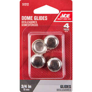 Ace  Nickel  0.75 in. Tap On  Chair Glide  4  0.75 in. W