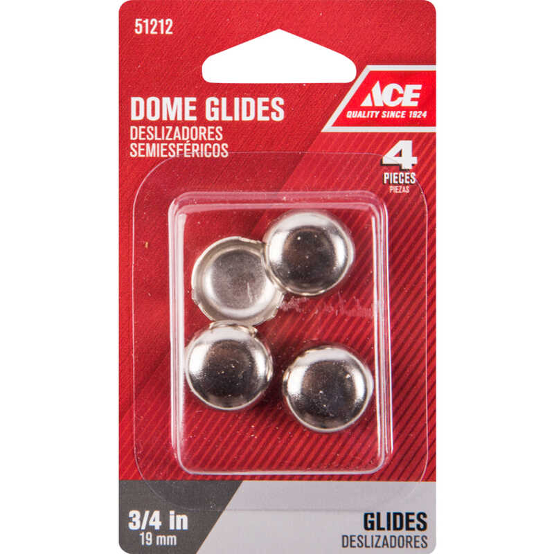 Ace  Nickel  0.75 in. Tap On  Chair Glide  4