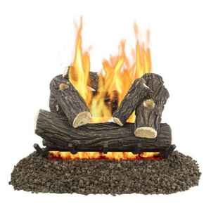 Pleasant Hearth Willow Oak  Fireplace Log Set  55 lb.