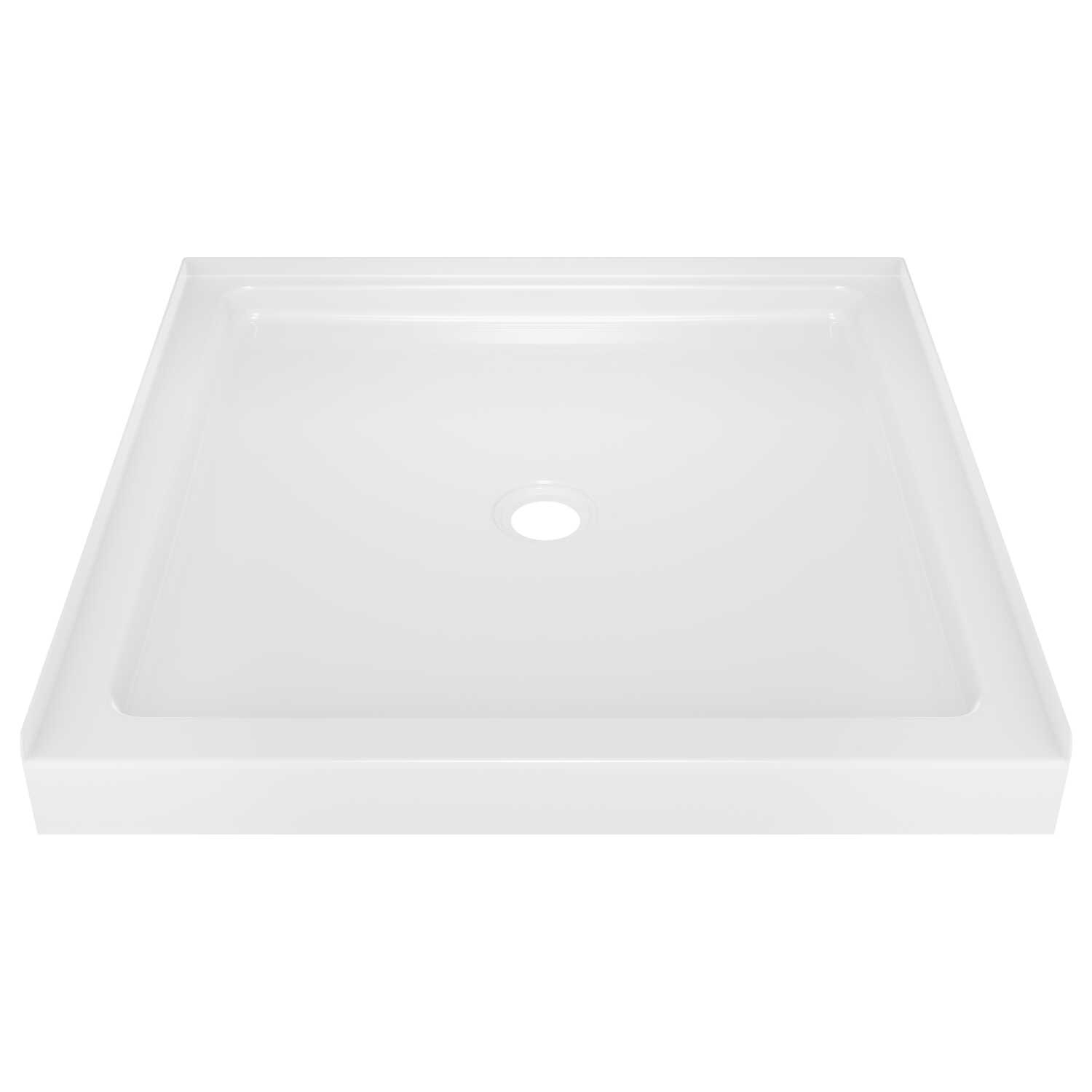 Delta Bathing System  Classic  3-1/2 in. H x 36 in. W x 36 in. L White  Shower Wall Base