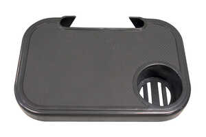 Living Accents  Plastic  Snap-On Side Tray  Black