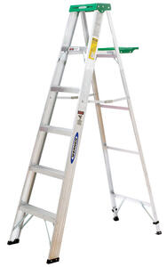 Werner  6 ft. H x 21.5 in. W Aluminum  Type II  225 lb. capacity Step Ladder