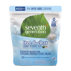 Seventh Generation Free & Clear Scent Laundry Detergent Pod 31.7 oz.