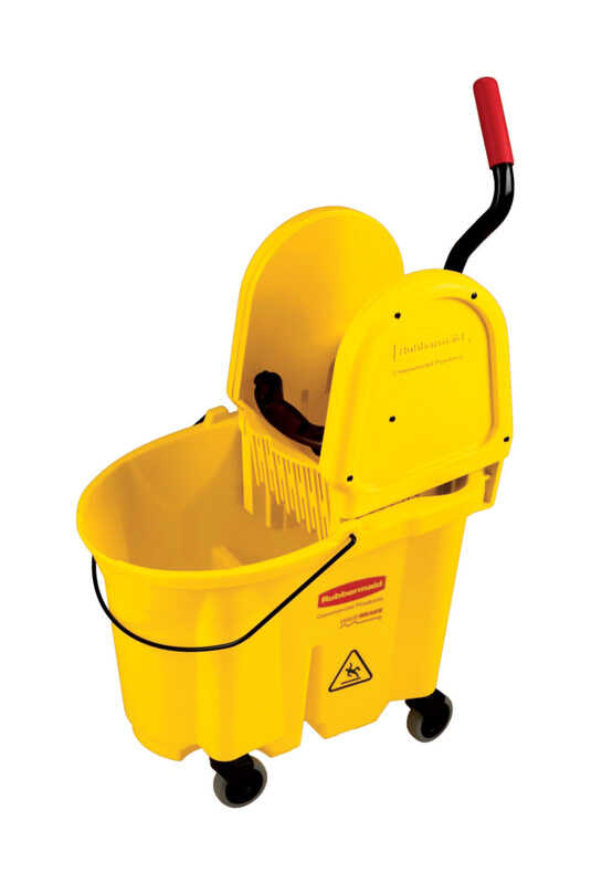 Rubbermaid Commercial  35 qt. Wringer Bucket  Yellow