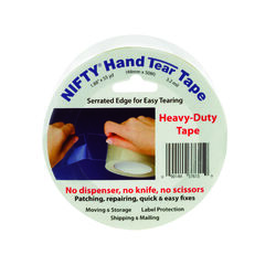 Nifty  Hand Tear Tape  2 in. W x 1980 in. L Tape  Clear