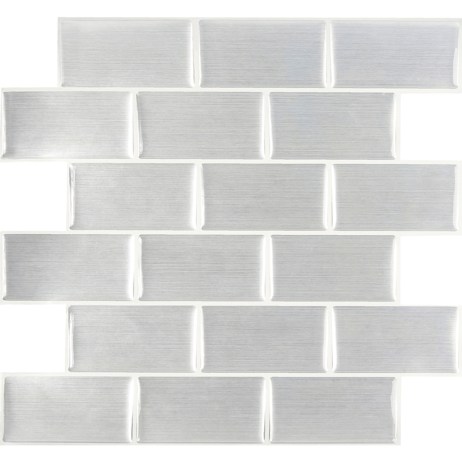 Peel and Impress  10 in. W x 11.3 in. L Metallic  Vinyl  Adhesive Wall Tile  Multiple Finish (Mosaic