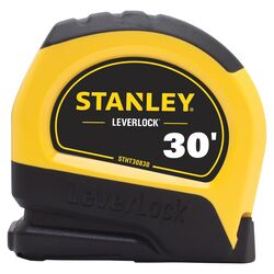 Stanley LeverLock 30 ft. L x 1 in. W Tape Measure 1 pk