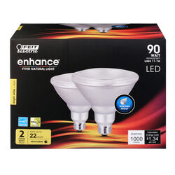 Feit Electric  Enhance  PAR38  E26 (Medium)  LED Bulb  Bright White  90 Watt Equivalence 2 pk