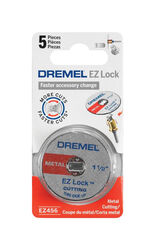 Dremel  EZ Lock  1-1/2 in. Dia. x 1/8 in. in.  Fiberglass  Metal Cut-Off Wheel  5 pk