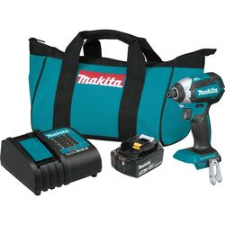 Makita LXT 18 volt 1/4 in. Cordless Brushless Impact Driver Kit (Battery & Charger)