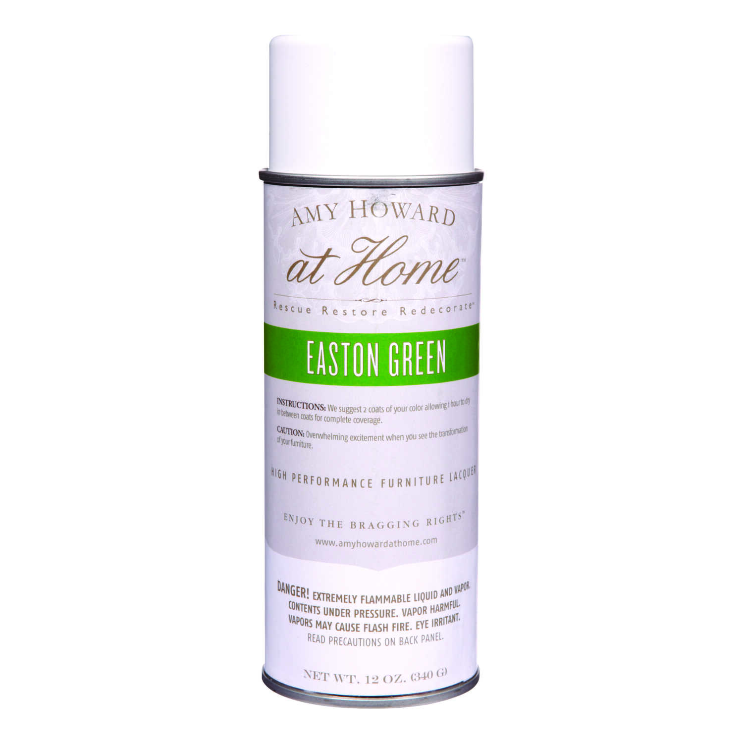 Amy Howard at Home  Gloss  Easton Green  High Performance Furniture Lacquer Spray  12 oz.