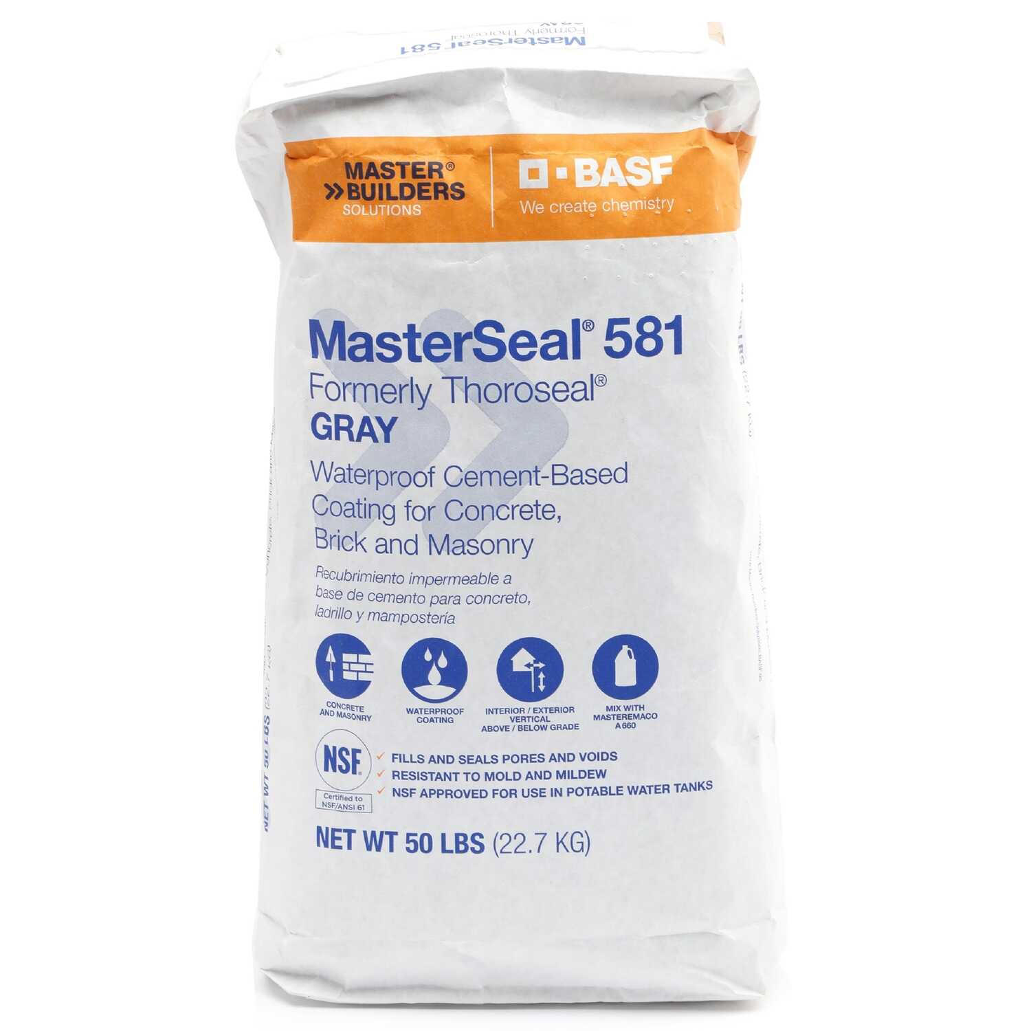Thoro  Thoroseal  Gray  Cement-Based  Waterproof Coating  50 lb.
