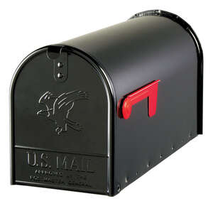 Gibraltar Mailboxes  Elite  Galvanized Steel  Post Mounted  Mailbox  22-1/4 in. L x 10-1/2 in. H x 2