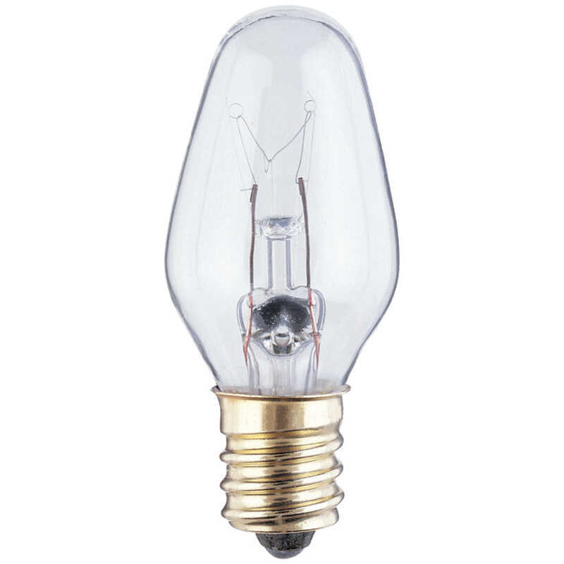 Westinghouse  7 watts C7  Incandescent Bulb  45 lumens White  Specialty  2 pk