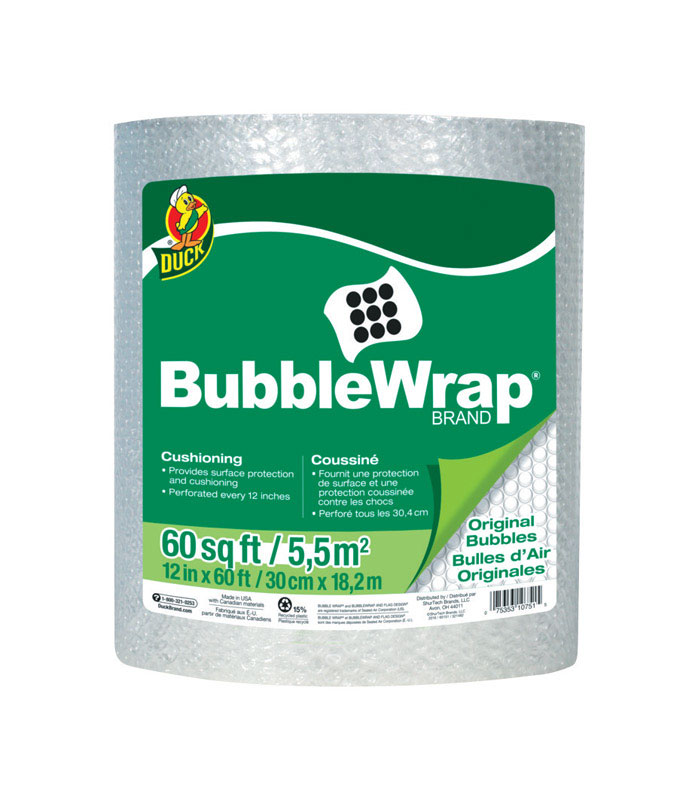 Duck Brand  12 in. W x 60 ft. L Bubble Wrap