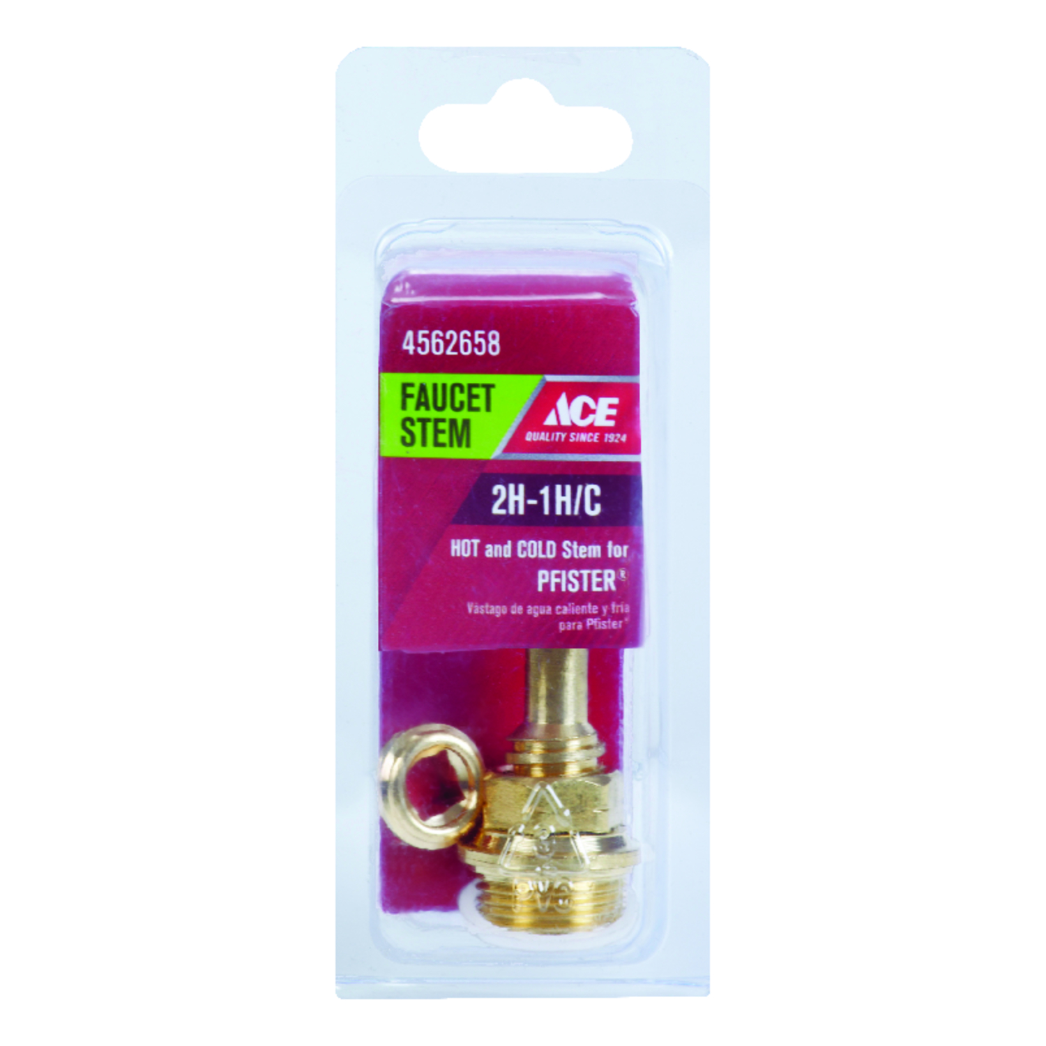 Ace  Low Lead  Hot and Cold  2H-1H/C  Faucet Stem  For Price Pfister