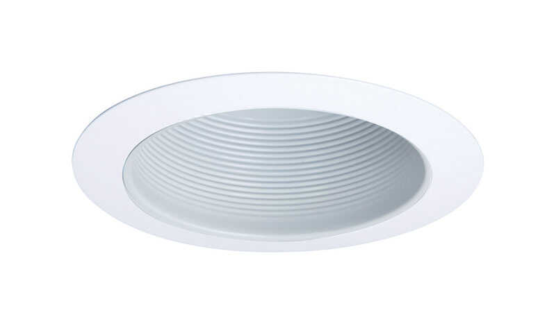 Halo  Gloss  White  6 in. W Aluminum  Baffle Trim