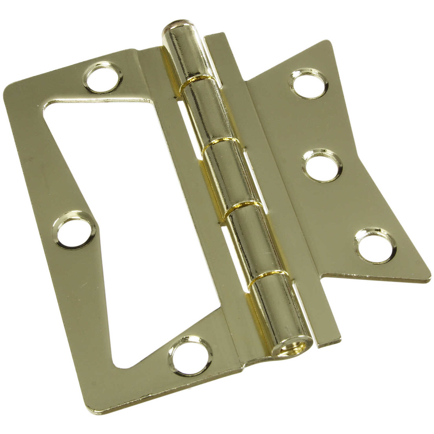 National Hardware  3-1/2 in. L Brass-Plated  Steel  Surface-Mounted Hinge  2 pk