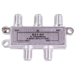 Monster Just Hook It Up 4 Way Coax Splitter 75 Ohm 1000 mHz 1 pk