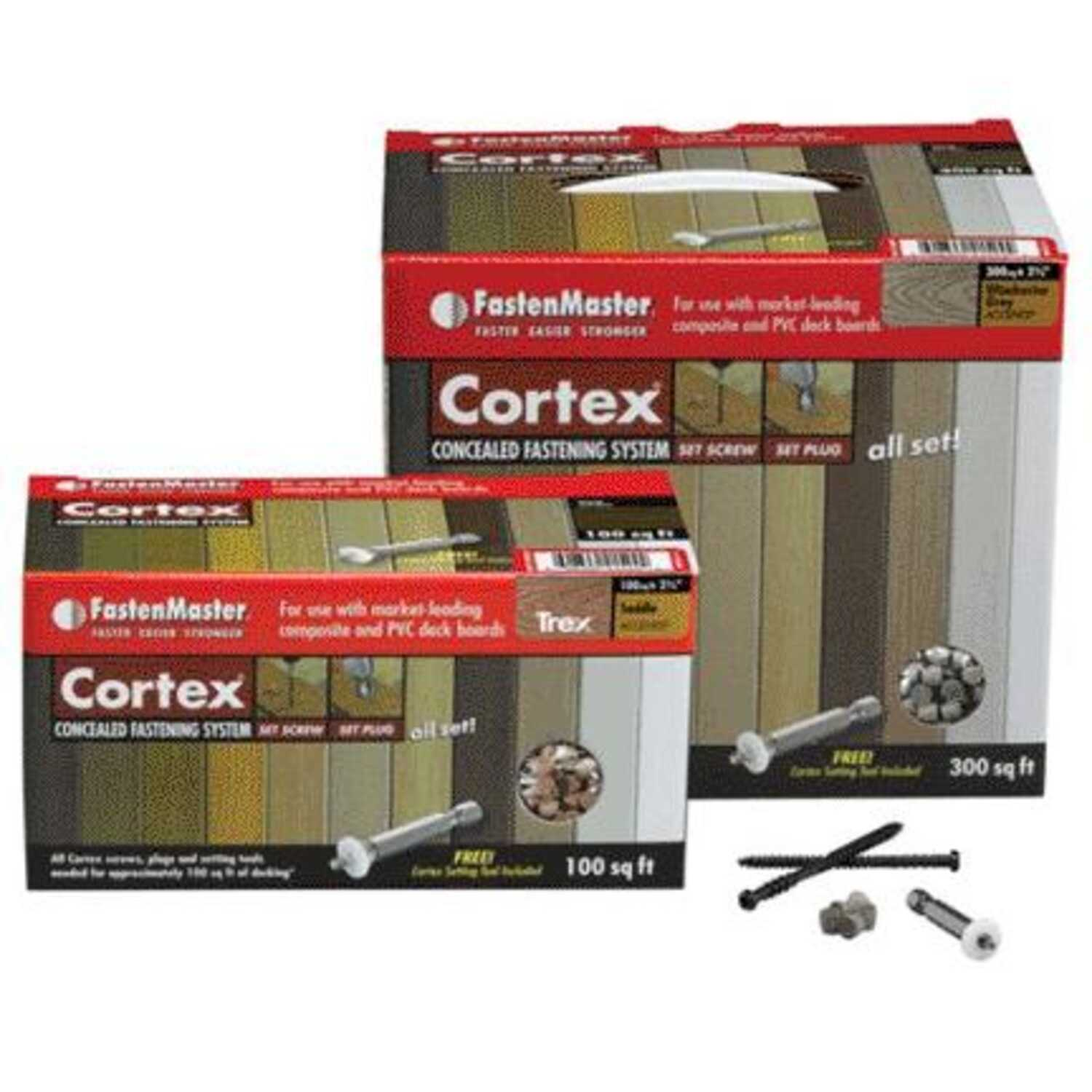 FastenMaster  Cortex  2-3/4 in. L Torx TTAP  Star Head Brownstone  Stainless Steel  Hidden Deck Fast