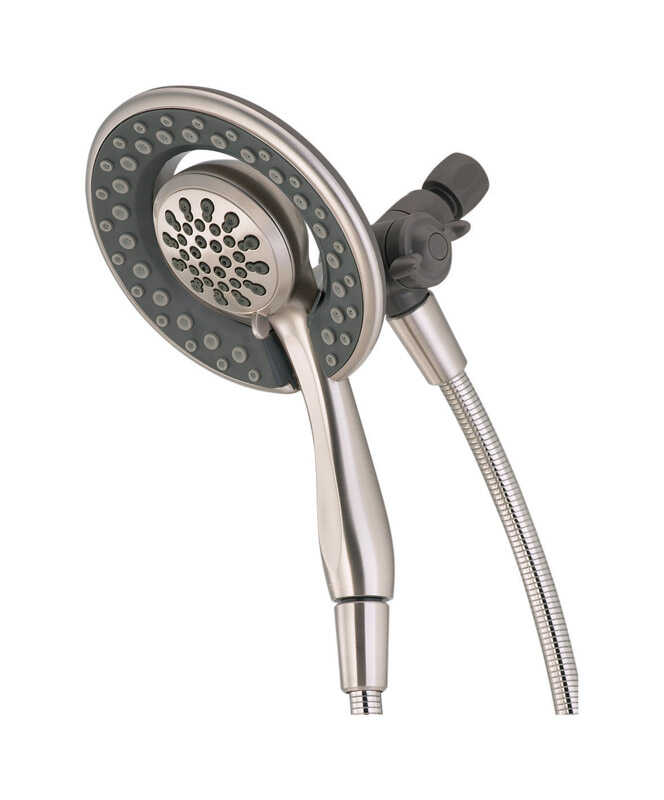 Delta  Brushed Nickel  4 settings Showerhead Combo  1.75 gpm