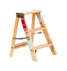 Michigan Ladder 24 in. H Wood Step Ladder Type III 200 lb.