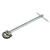 Ace  Basin Wrench  10 in. L 1 pc.