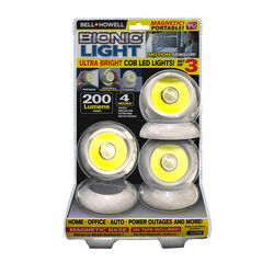 Bell and Howell  As Seen On TV  2.95 in. L White  Battery Powered  LED  Accent Light  200 lumens