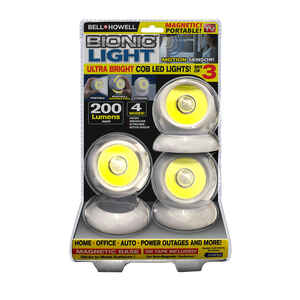 Bell+Howell  As Seen On TV  White  Battery Powered  LED  Accent Light  200 lumens