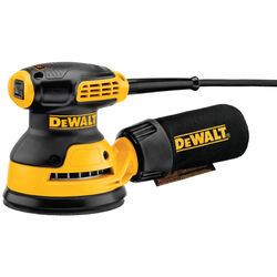 DeWalt  5 in. Corded  Random Orbit Sander  Kit 3 amps 12000 opm Yellow